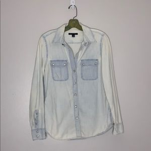 Banana Republic Button Down Light Wash Denim Shirt